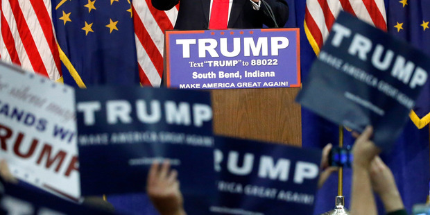 Republican presidential candidate Donald Trump was written off. Photo / AP