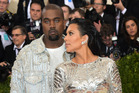 Rapper Kanye West and his wife, TV personality, Kim Kardashian. Photo / AFP