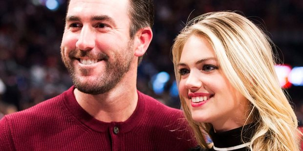 Justin Verlander and model Kate Upton have unveiled their engagement. Photo/AP
