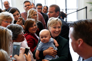 Democratic presidential candidate Hillary Clinton lost Indiana but is on course for the Democratic nomination. Photo / AP
