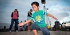 Watch: EJ throws down some stylish moves on city waterfront's new Dance-O-Mat