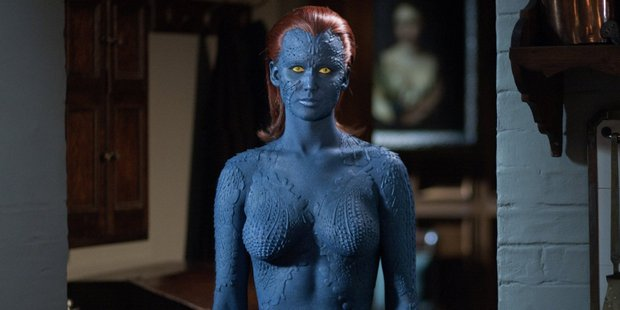 Loading Jennifer Lawrence as Mystique, one of Marvel Comics' most well-known LGBT characters.