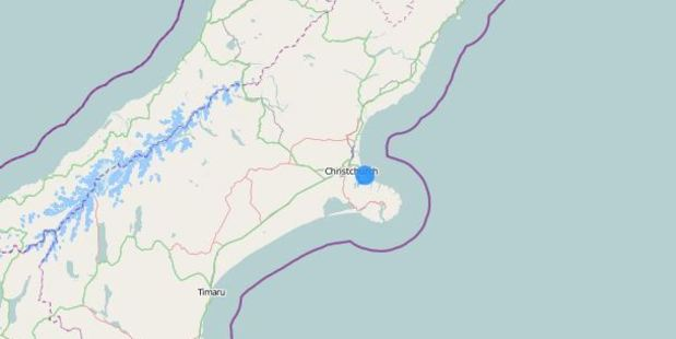 The quake was centred 10km east of the city centre. Image / Geonet