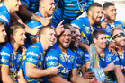 The Eels celebrates with the trophy following the final match between the New Zealand Warriors and the Parramatta Eels. Photo / Getty Images.