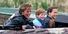 Prince Harry with his mother and brother Prince William at Thorpe Park. Photo / Getty Images