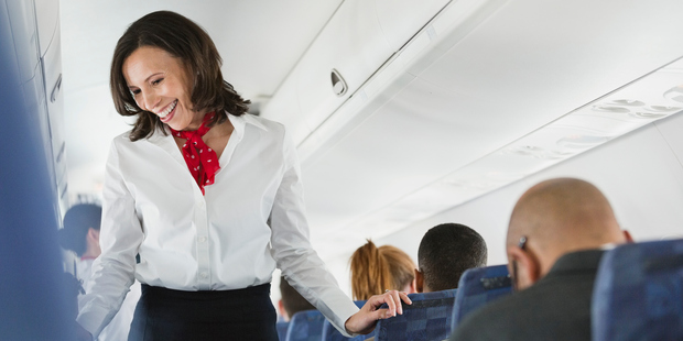 Saying 'thank you' can go a long way to making your flight attendant feel appreciated. Photo / Getty