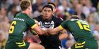 Kiwis forward Jason Taumalolo takes on the Australian defence. Photo / Getty Images