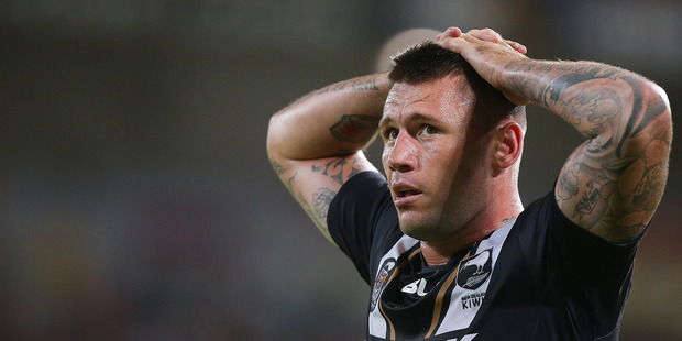 Shaun Kenny-Dowall has been ruled out of the Kiwis' clash with the Kangaroos. Photo / Getty