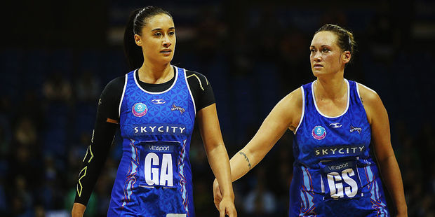 Maria Tutaia and Cathrine Tuivaiti of the Mystics. Photo / Getty