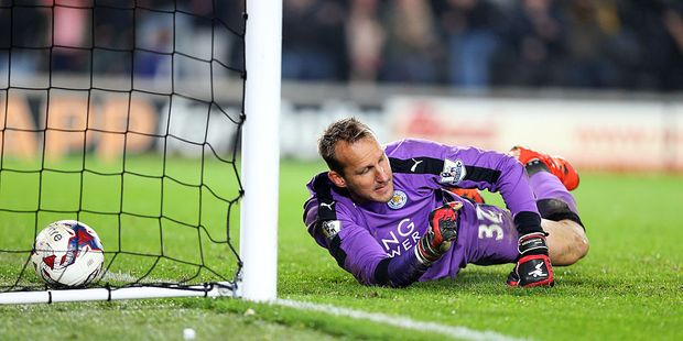 Mark Schwarzer lets in a goal - in the Capital One Cup. Photo / Getty