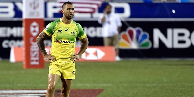 Quade Cooper during the USA Sevens Rugby tournament. Photo / Getty