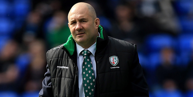 London Irish coach Tom Coventry could look to fill the Highlanders and Crusaders coaching vacancies. Photo / Getty Images