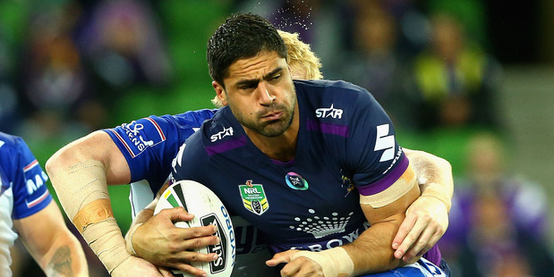 Melbourne Storm player Jesse Bromwich is during a round 6 match between the Storm and the Bulldogs at AAMI Park. Photo / Getty Images