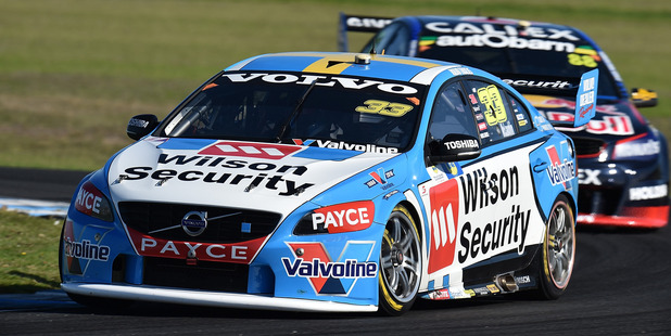 Scott McLaughlin drives the #33 Wilson Security Racing GRM Volvo S60. Photo / Getty Images