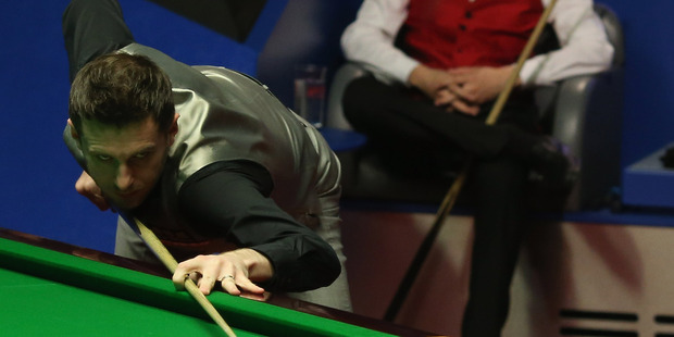 Mark Selby in action at the World Snooker Championship in Sheffield. Photo / Getty Images