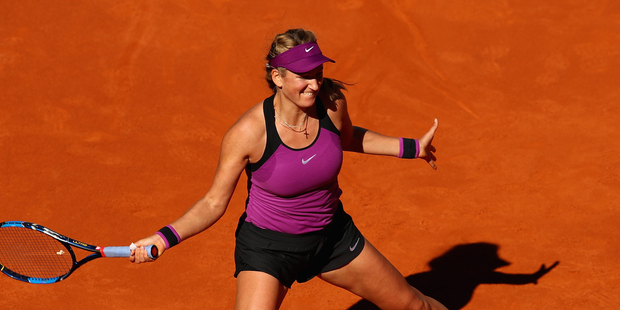 Victoria Azarenka plays a forehand during the Mutua Madrid Open. Photo / Getty Images