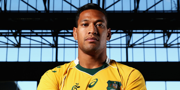 Wallaby star Israel Folau. Photo / Getty Images