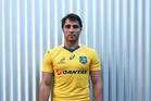 Wallabies halfback Nick Phipps models the new Wallabies jersey. Photo / Getty Images