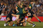 Paul Gallen was a workhorse all night for the Kangaroos. Photo / Getty