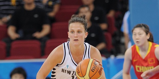 Jillian Harmon playing for the Tall Ferns. Photo / Getty Images