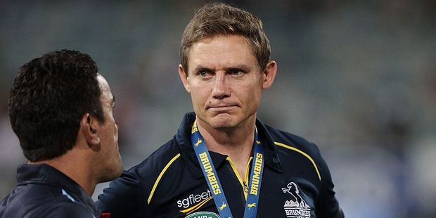 Brumbies coach Stephen Larkham's side have scored just nine tries in their last four games. Photo / Getty