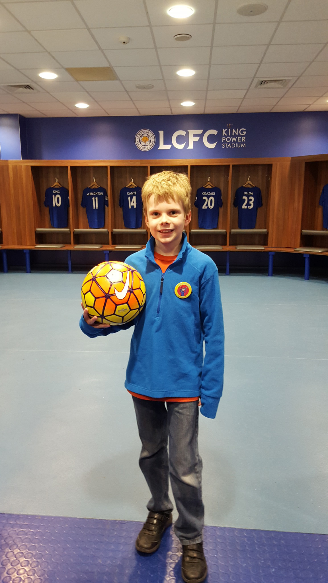 Leicester City super fan Charlie Keyworth. Photo / Mike Keyworth