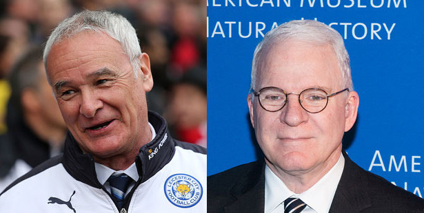 Could Steve Martin pull off the role of Claudio Ranieri? Photos / Getty