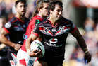 Matthew Allwood of the Warriors makes a run during the round nine NRL match between the New Zealand Warriors and the St George Illawarra Dragons. Photo / Getty Images.