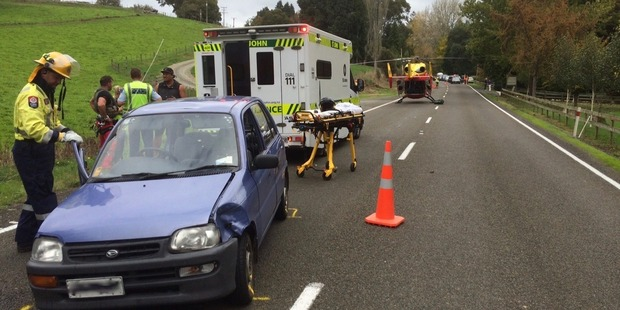 The Waikato Westpac Rescue Helicopter was dispatched to SH3 South of Piopio. Photo / Supplied