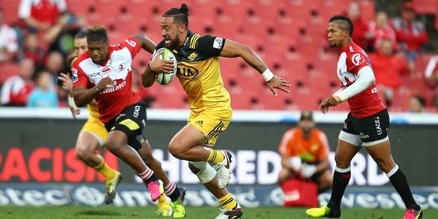 Hurricanes centre Matt Proctor had an all-around excellent performance against the Lions this week. Photo / Getty