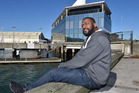 Game developer Rashad Redic at Steamer basin, next to the RocketWerkz office. Photo / Otago Daily Times / Gregor Richardson