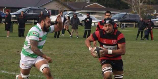 Photo of Andy Koli Filivao (right) who was knocked unconscious during a rugby game. Photo / Supplied