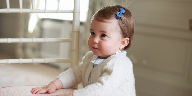 Loading Princess Charlotte received a huge pile of presents for her first birthday. Photo / The Royal Family/Facebook