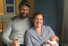 Photo of Liam Edwards and Jaimee Edwards with their five week old son Alexander. Photo / Supplied