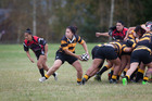 Waikite's Tina Stephans takes control  against Arataki in a pre-season tournament on the weekend. Photo / Andrew Warner