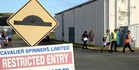 Staff were given confirmation of job losses at Cavalier Spinners in Whanganui. Photo/ Stuart Munro