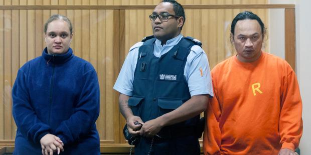 Tania Shailer and David William Haerewa in the High Court at Rotorua this morning. PHOTO/ANDREW WARNER