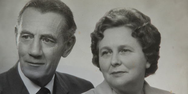 Upper Hutt woman Madeline Anderson, who turns 109 tomorrow, in a portrait with her late husband, Harry.