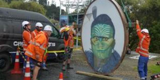 SLOWLY: The King Tawhiao sign in Taumarunui will be replaced by week's end.