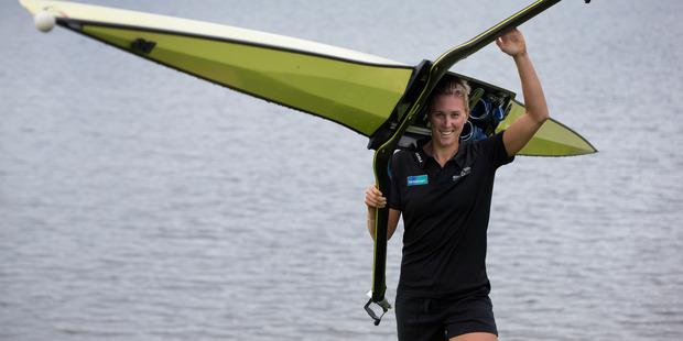 Former world single sculling champion Emma Twigg should qualify comfortably. Photo / Brett Phibbs