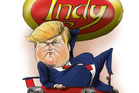 Donald Trump at the Indiana primaries. Illustration / Rod Emmerson