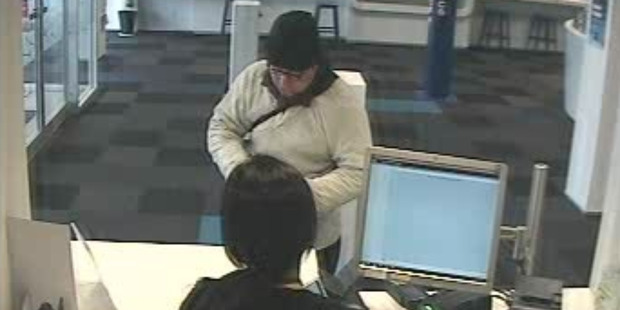 Wellington Police are investigating an aggravated robbery which took place at the BNZ bank in Jackson Street, Petone. Photo / Supplied via police