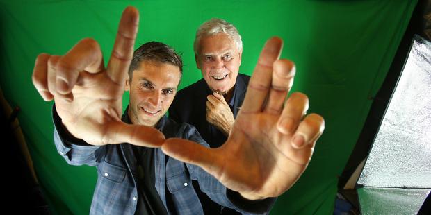 Anton Steel and Sir Bob Harvey at the Tauranga Art Gallery ahead of the launch of BOP Film. Photo/John Borren