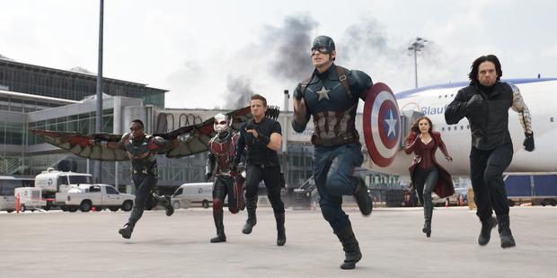 Scene from Marvel's Captain America: Civil War.