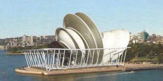 """One day, Jørn Utzon was thinking about his new commission as he loaded the dishwasher,"" tweets @ianduhig. Photo / Supplied"