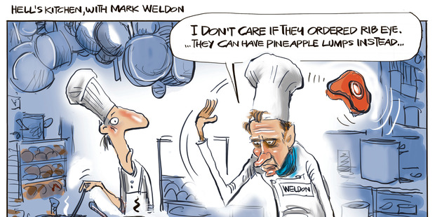 Hell's Kitchen, with Mark Weldon. Illustration / Rod Emmerson