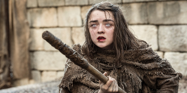 Maisie Williams as Arya Stark in Game of Thrones.