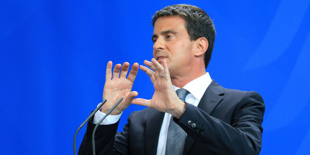 French Prime Minister Manuel Valls will meet with John Key on Monday. Photo / Bloomberg