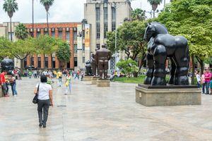 Botero Plaza in Medellin, Colombia.