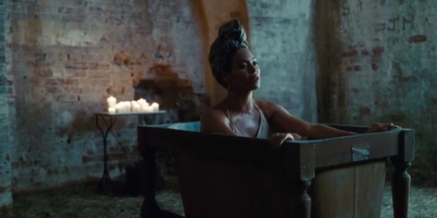 Beyonce in a clip from video for her album Lemonade.